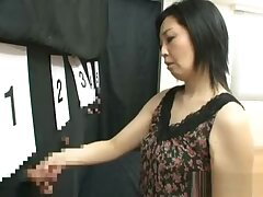 Naughty mature Asian lady plays pick a cock