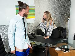 Sexy Boss Kayley Gunner NEEDS that big, hard cock!