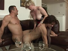Needy action for a pair of bi-sexual lovers and a grown up