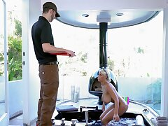 Smooth foreplay and sex with Czech pornstar Bridgette B with regard to the bathroom