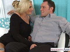 Shameless sinful whore wife spreads legs less be nailed missionary style