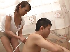 Amazing Japanese wife sucking her hubby's dick - Rika Fujishita