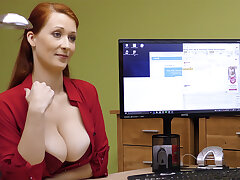 Big-Boobed red-haired mature have a go rigid intercourse be proper of money