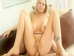 Amazing pornstar Julia Ann in incredible cunnilingus, blonde sex scene