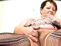 Chubby Granny Enjoying A Big Black Cock