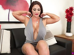 Torrid milf with magic boobs and converse dropping ass Roxy R is pressing your cock