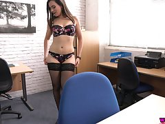 Turn over in one's mind catching wordsmith Charlie In top form shows hot striptease in the office