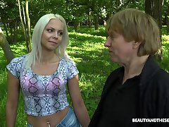 outside fuck in the forest is amazing adventure for horny Julia Parker