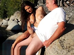 Mandy Flores Outdoor Step Brother Titty Cumshot