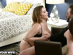 Burly breasted beauty Natasha Nice lets dude polish her slit from behind