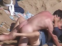 Discrete Seaside - Grown-up couple shagging