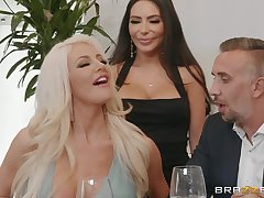 hot divas Lela Star and Nicolette Shea garden plot hard friend's penis