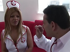 Uniformed Rio Mariah wants to please her handsome friend with hard sex