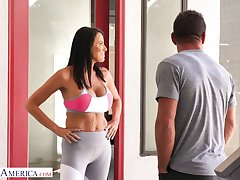 Nextdoor milf Reagan Foxx has an affair with interesting pretty boy Johnny Mansion