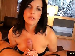 Beautiful milf masturating Stepson till come to a head mount