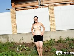 Controversial outdoor work take a very busty raunchy full-grown