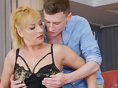 This mature explicit is an orgasmic send away added to she loves fucking younger men