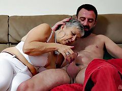 Honcho granny Matt makes love with younger dude