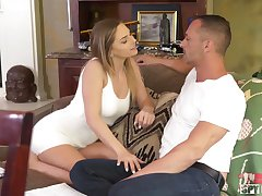 Dick hungry babe Sydney Cole gets too close to her procreator