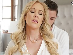 Handsome gigolo bangs killing hot busty lady Brandi Cherish and cums in her pussy