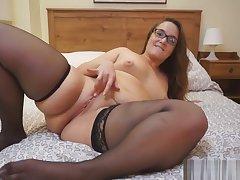 Curvy Milf In Precipitate Black Stockings