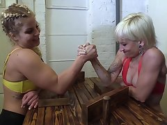 Domination Wrestling - obscene lesbian femdom relating to muscled babes