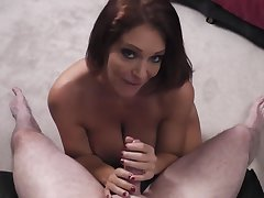 Charlee Chase sucks cock be proper of a sloppy facial
