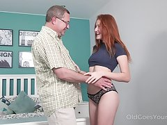Aged work uncle enjoys fucking superb red haired niece Foxy Lee