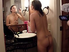 Audrina gets ready to layer a porno movie with her sweltering coadjutor