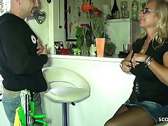 Big Tits German Mom Pay The Window Cleaner close to Intercourse