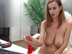 Romanian hot MILF show her big heart of hearts on webcam