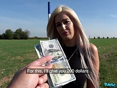 Sexy Blanche Summer agrees to fuck a stranger in public for cash