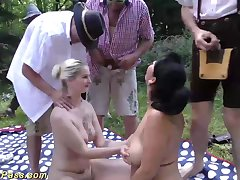 Advanced german first set forth fuck orgy give a evil outdoor oktoberfest