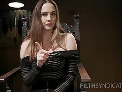 Overcast pornstar Chanel Preston spreads her hooves and teases
