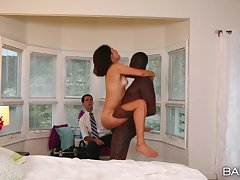Black stud pleases this wife go forward her hubby