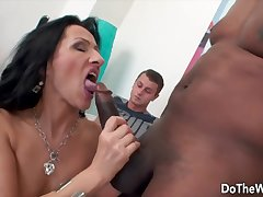 Swinger milfs inviting dicks in mouth plus give nice blowjobs in front of their husbands