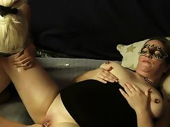 Mature amateur fisted in the matter of the brush cavernous vagina