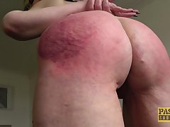 Rough mouth and pussy fucking with arse spanking for Skylar Squirt