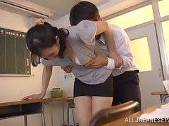 Skinny Japanese hottie Nobuko Terabayashi moans by way of passionate sex