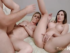 Crazy mom and say no to sluty step- daughter-in-law had a 3some with 1 of the firsthand neighbors