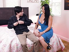 Dirty deeds performed by vulgar catholic Nyomi Star together with a forbidden young buck