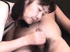 Chie loves sucking cock, 50's matured school tutor