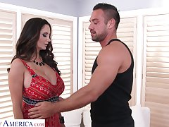 Mouth watering milf with big titties Ava Addams is fucked by hot guy Johnny Castle