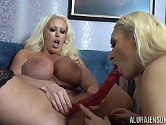 Alura Jenson and Dolly Fox nancy MILF making love