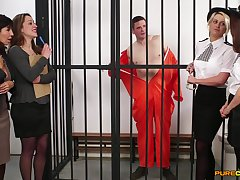 Amateur video of cock hungry sluts giving blowjobs to an jailbird