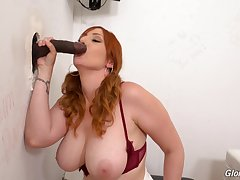 Interracial glory hole action be beneficial to be in charge redhead Lauren Phillips