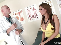 Hot ass brunette Allison personality enjoys having sex with a doctor