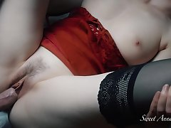 I Obtain Fucked Wide of A Chubby Cock While I Play With My Hard Clit And I Have An Orgasm - Sweetannabella