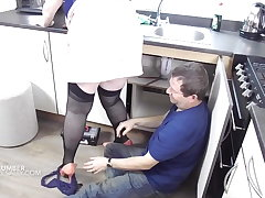 The plumber gets to a certain distracted