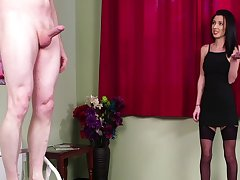 Intense dissimulation be advisable for the brunette woman in a black dress